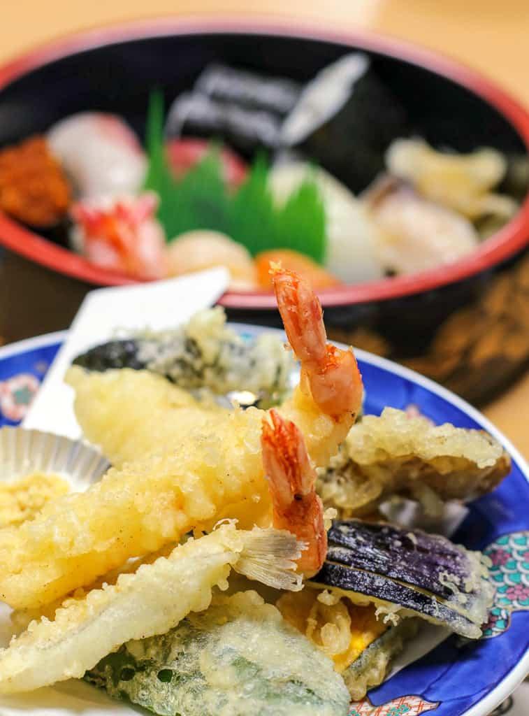 Tempura shrimp on Hokkaido's remote island of Rebun