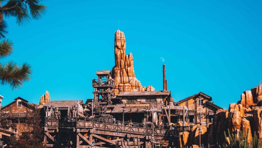 view of Big Thunder Mountain at Tokyo Disneyland