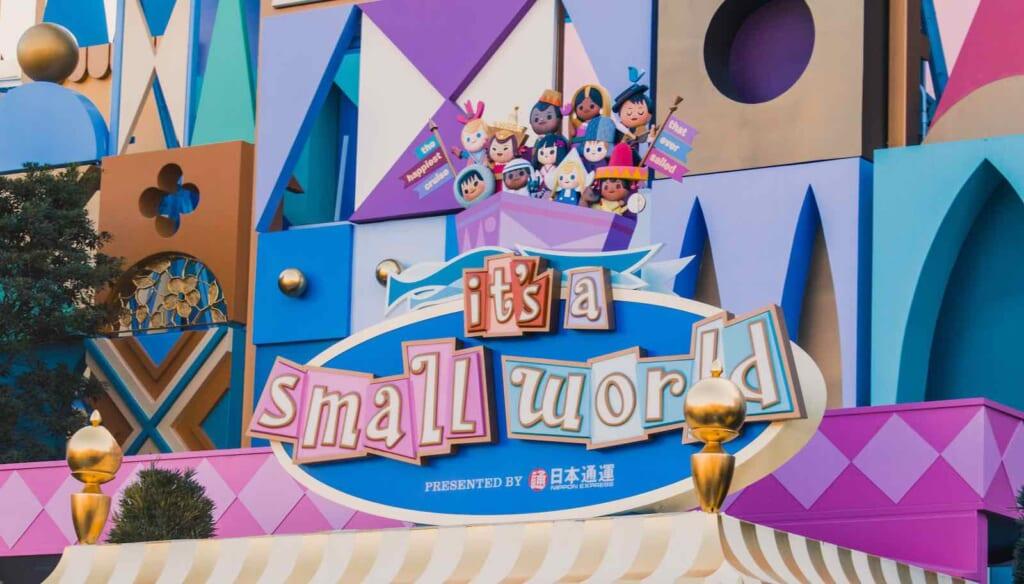It's a small world signage at Tokyo Disneyland