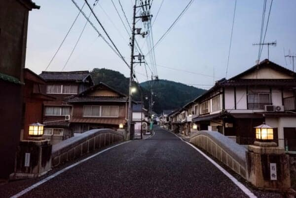 View of a street in Joge, a post town on the Japanese Silver Road in Joge, Hiroshima