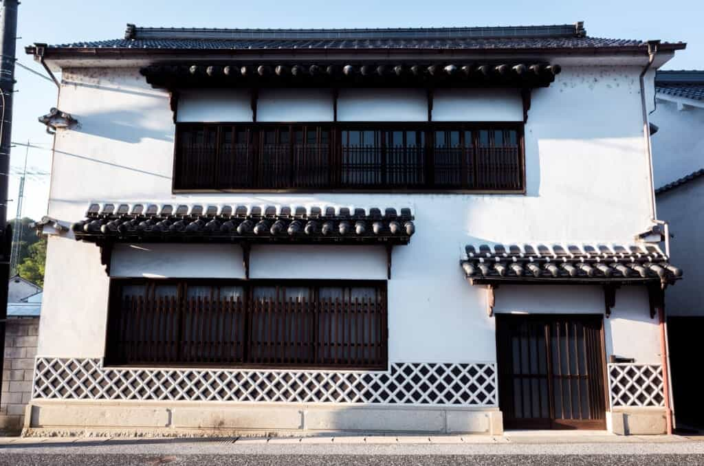 Traditional Japanese warehouse in Joge town, Hiroshima
