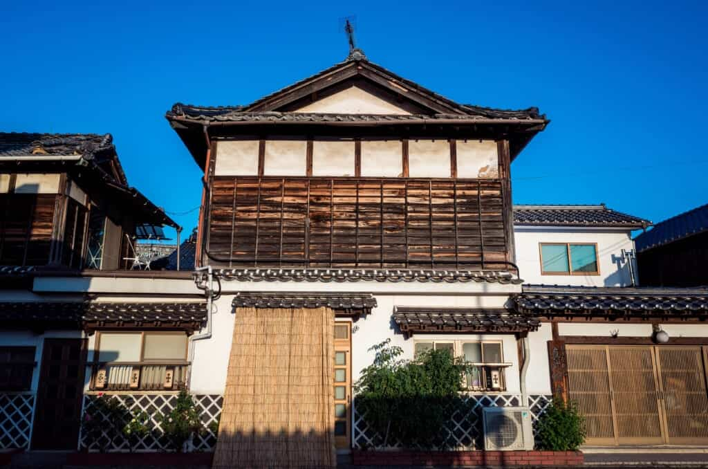 Traditional Japanese house in an old industrial town