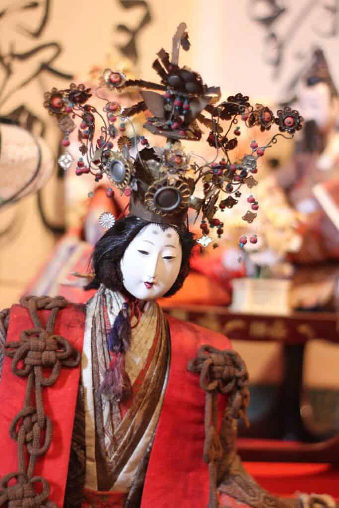 Antique Hina Matsuri doll representing the Empress of Japan