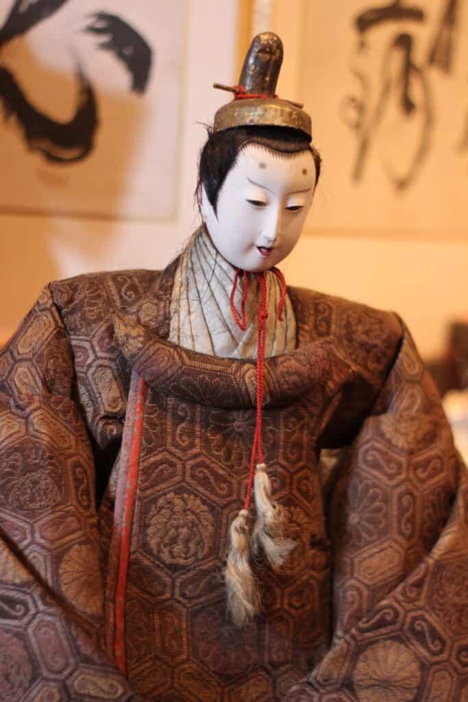 Antique Hina Matsuri doll representing the Emperor of Japan