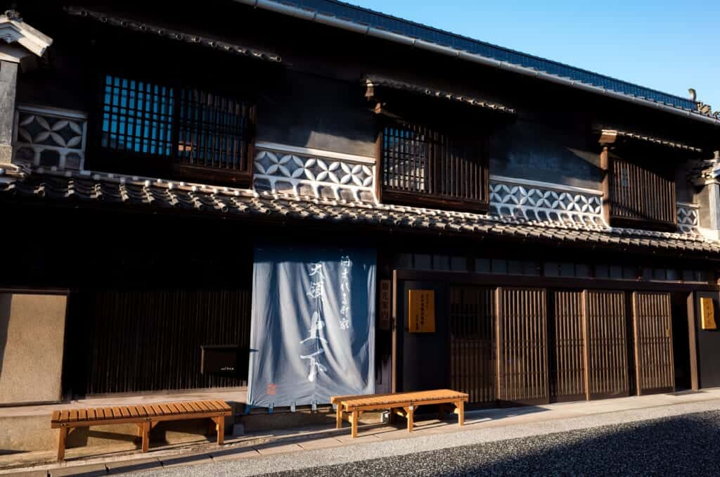 Old traditional Japanese machiya in Joge