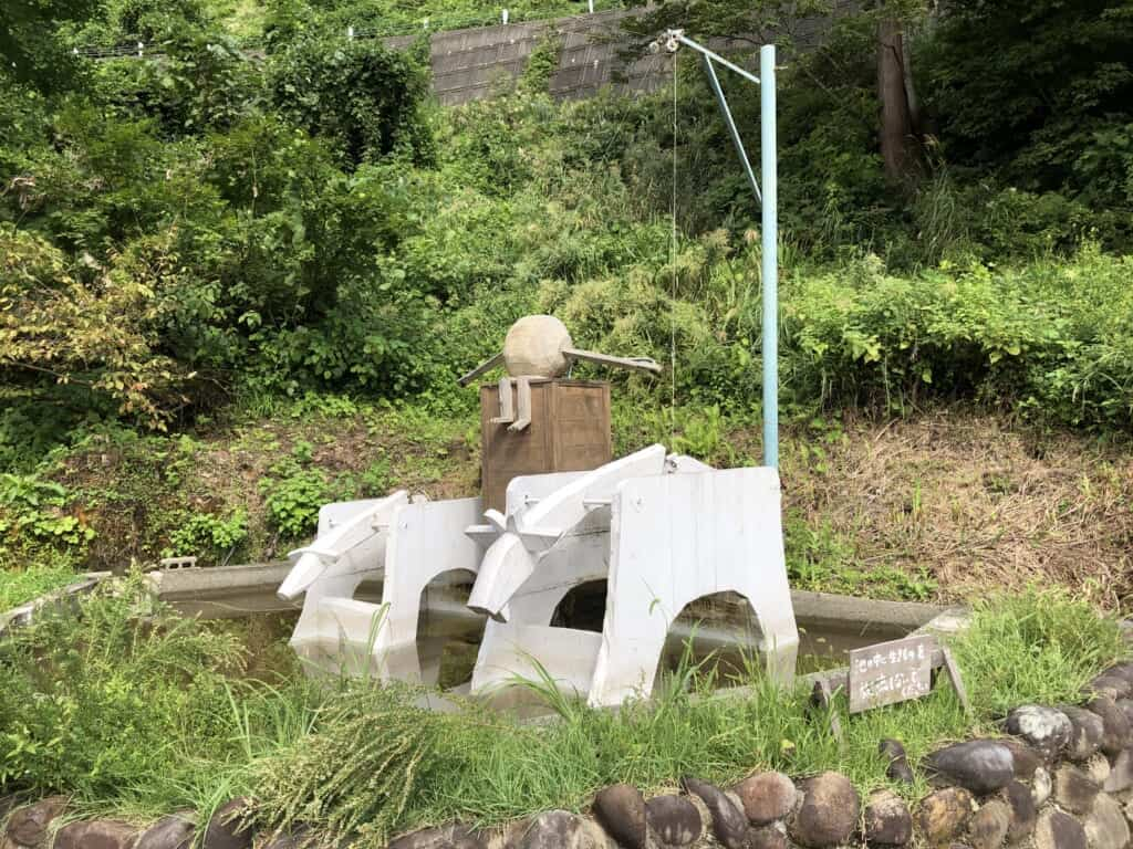 Art work in the grounds of Hachi And Seizo Tashima Museum of Picture Book Art, Niigata