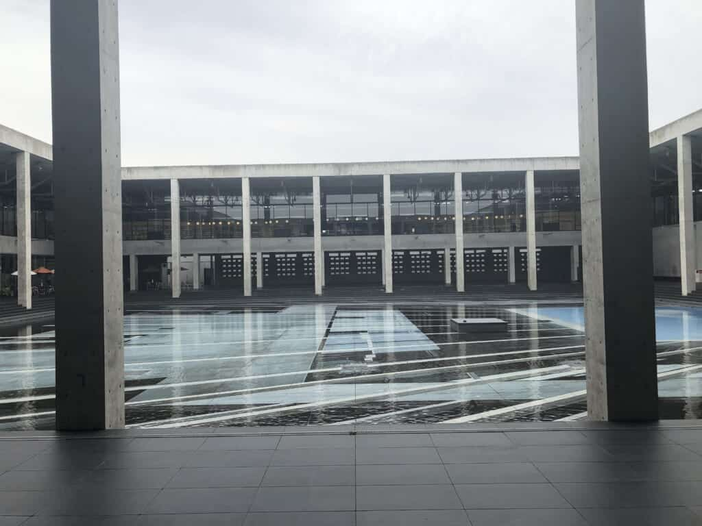 View of the building of Echigo-Tsumari Satoyama Museum of Contemporary Art, KINARE