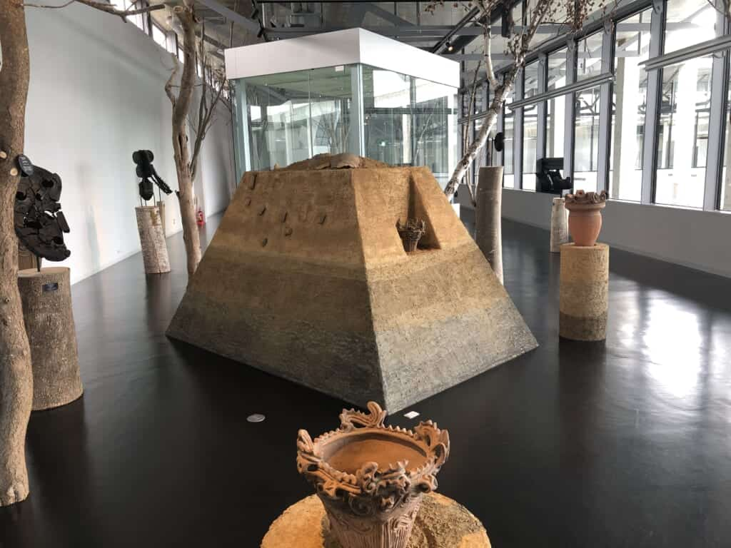 Art works inside the Echigo-Tsumari Satoyama Museum of Contemporary Art, KINARE