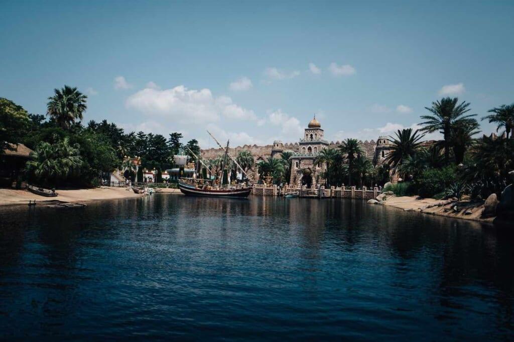 Arabian style artificial lake at DisneySea