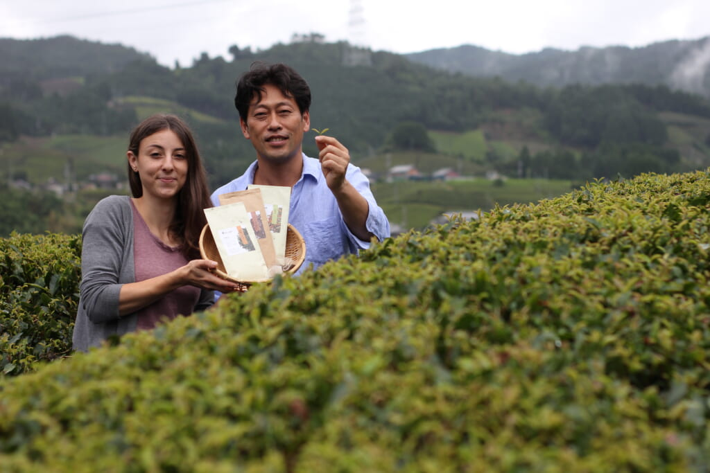 fields of tea and two of the Peko Peko Box collaborators