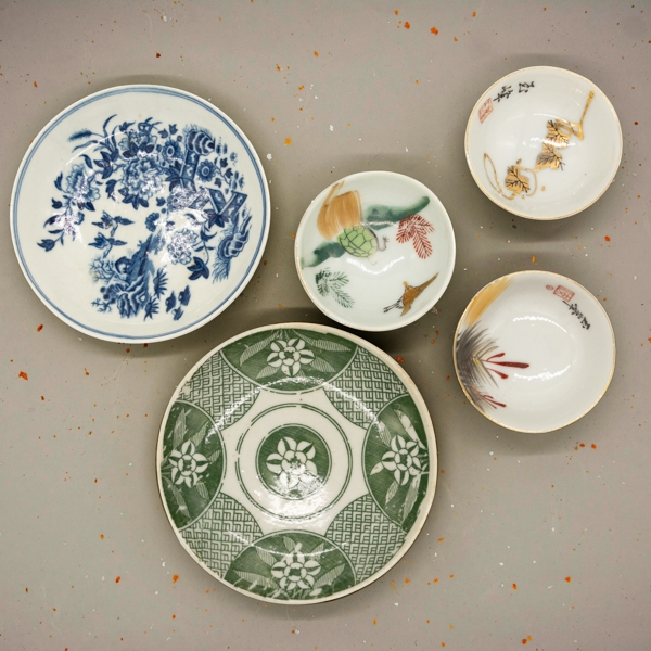 Antique plates as one of the japanese products
