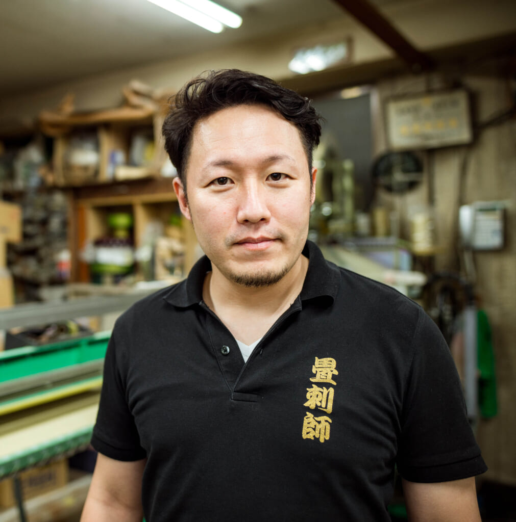 The owner of the tatami shop in Tokyo
