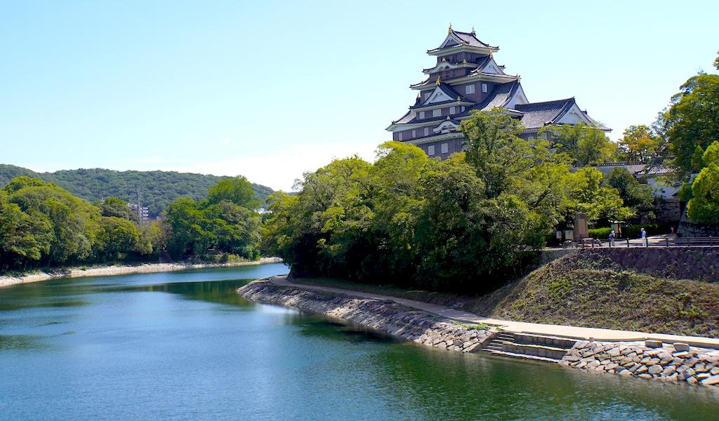 Okayama Castle overlooking the Asahi River