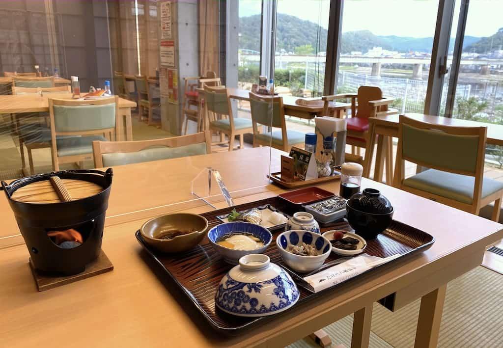 Breakfast at Takebe Yahata Onsen in Okayama