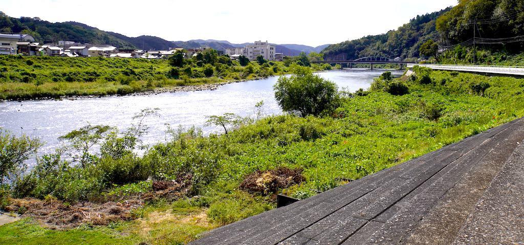 Asahi river in Takebe in Okayama