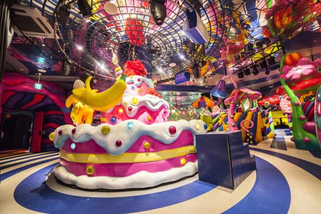 Sweets-Go-Round at Mushroom Disco at the Kawaii Monster Café in Harajuku