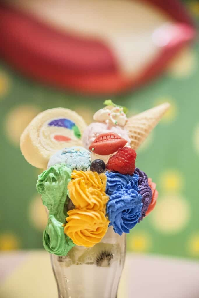 One of the desserts of the Kawaii Monster Cafe in Harajuku