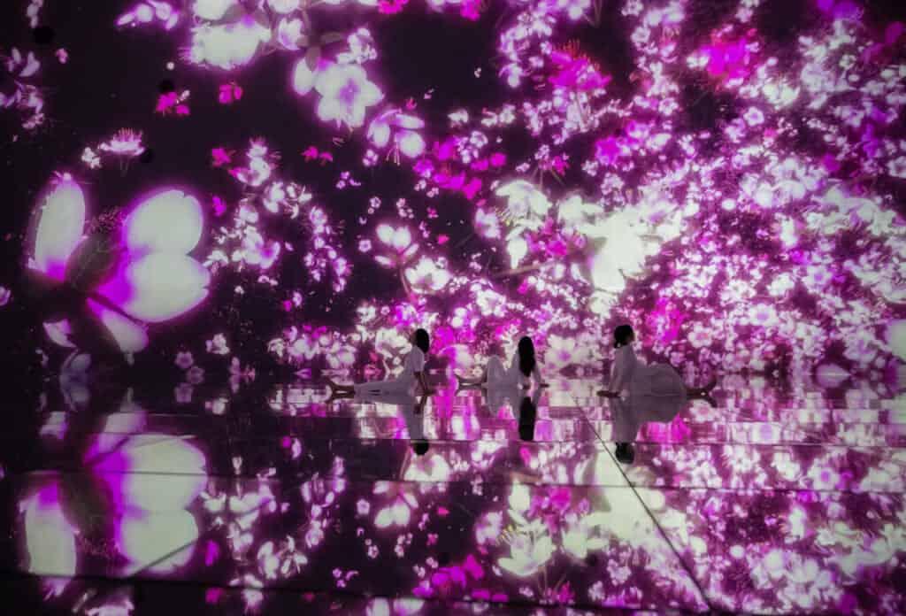 digital cherry blossom