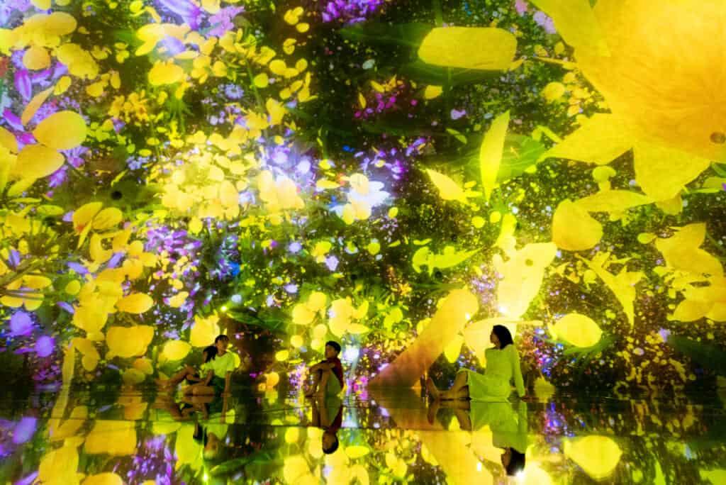 yellow digital flowers