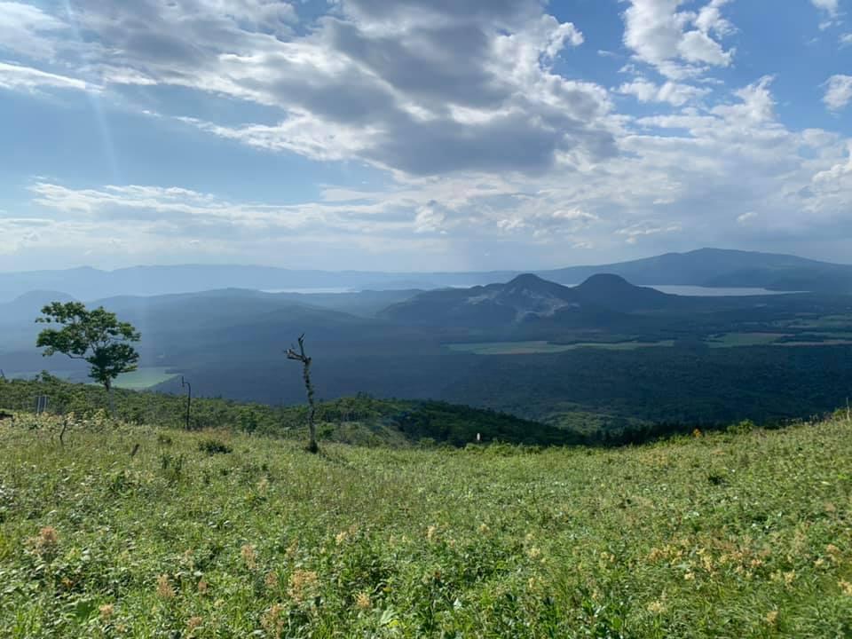 View from the hills between Lake Mashū and Lake Kussharo in Hokkaido