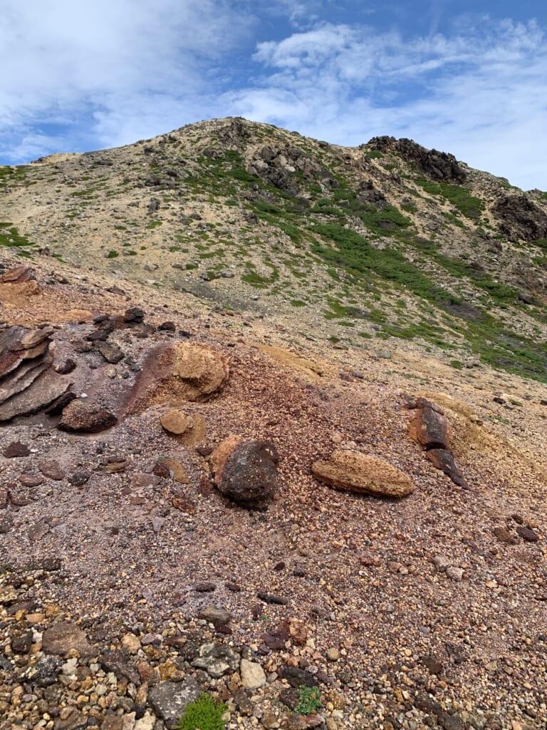Igneous rocks on Mount Meakan