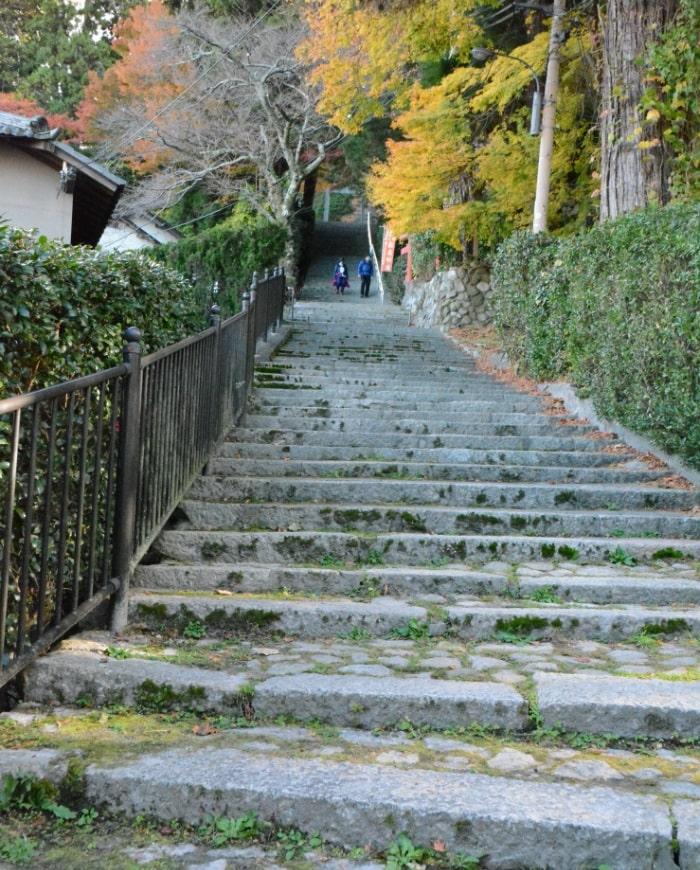 Stairs leading to Tosenji, Arima Onsen