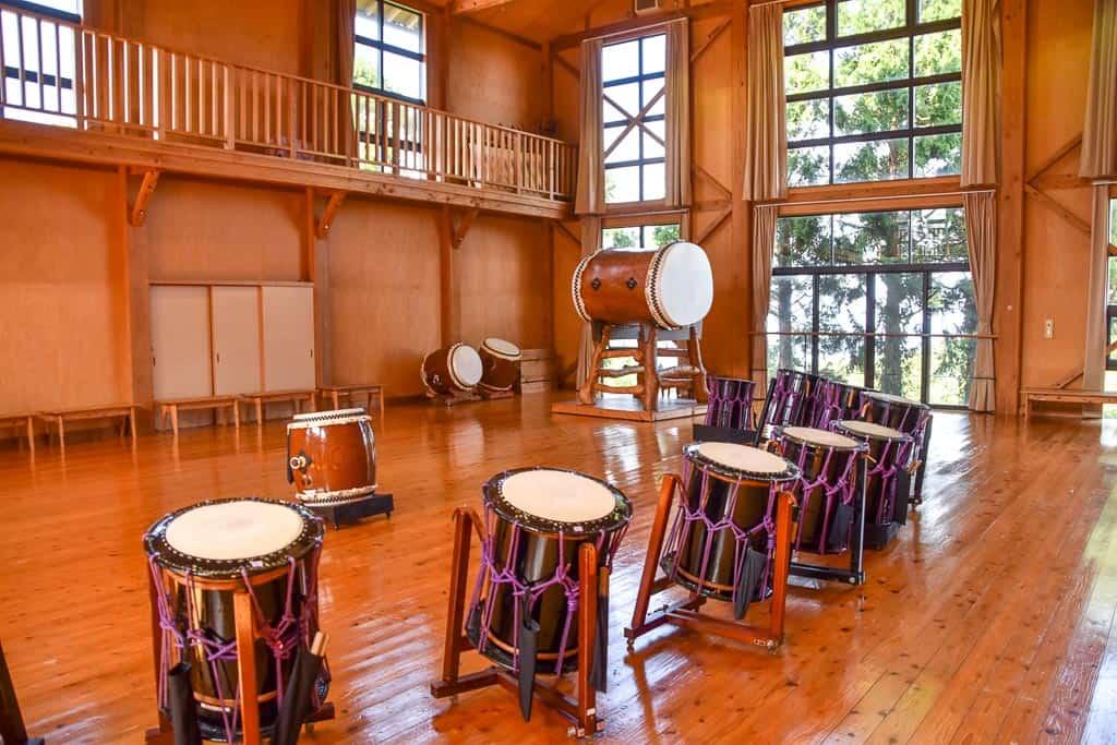 Drums at The Sado Island Taiko Centre