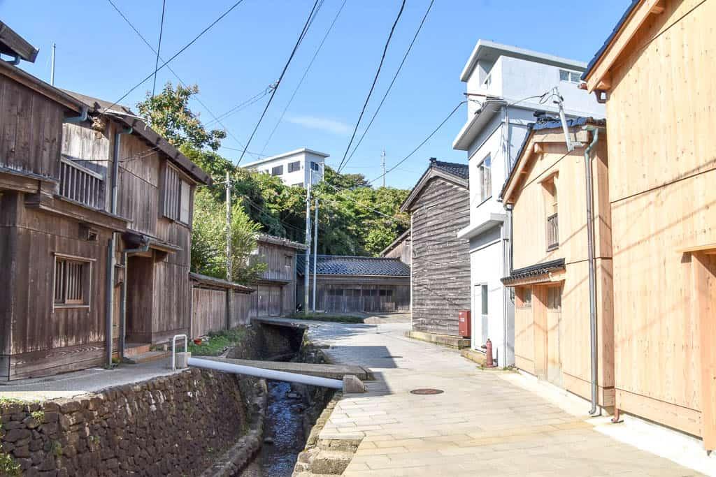 Edo period Shukunegi Village on Sado Island, Niigata