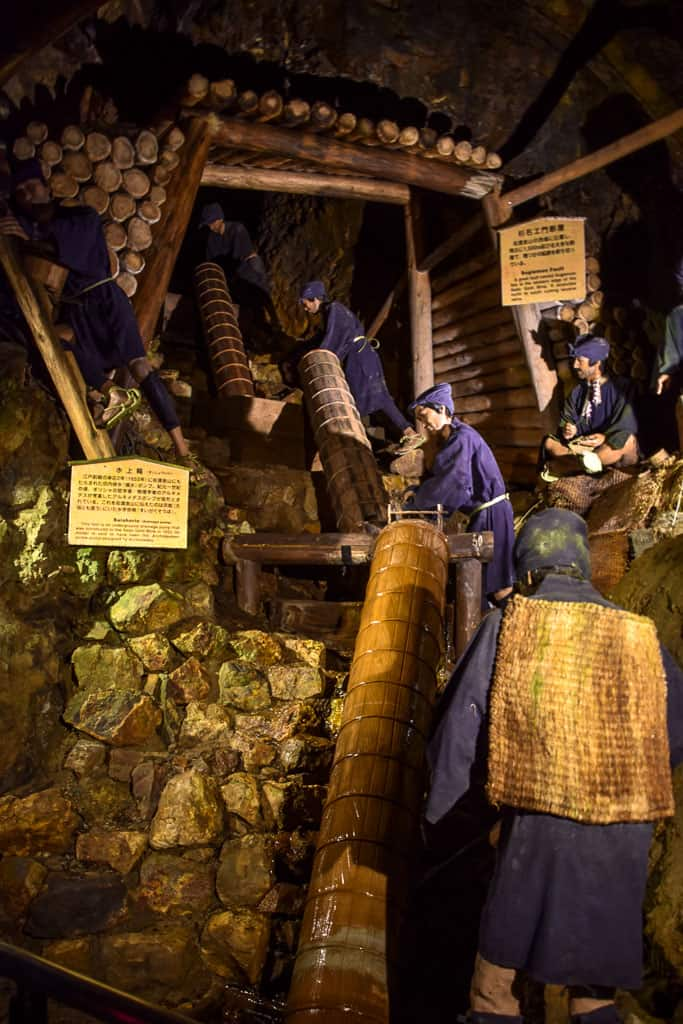gold mine on Sado Island in Niigata