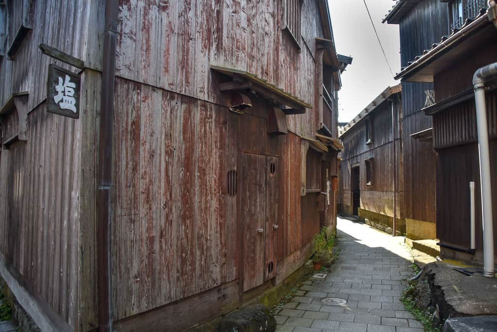 Edo period Alleyway in Shukunegi Village on Sado Island, Niigata