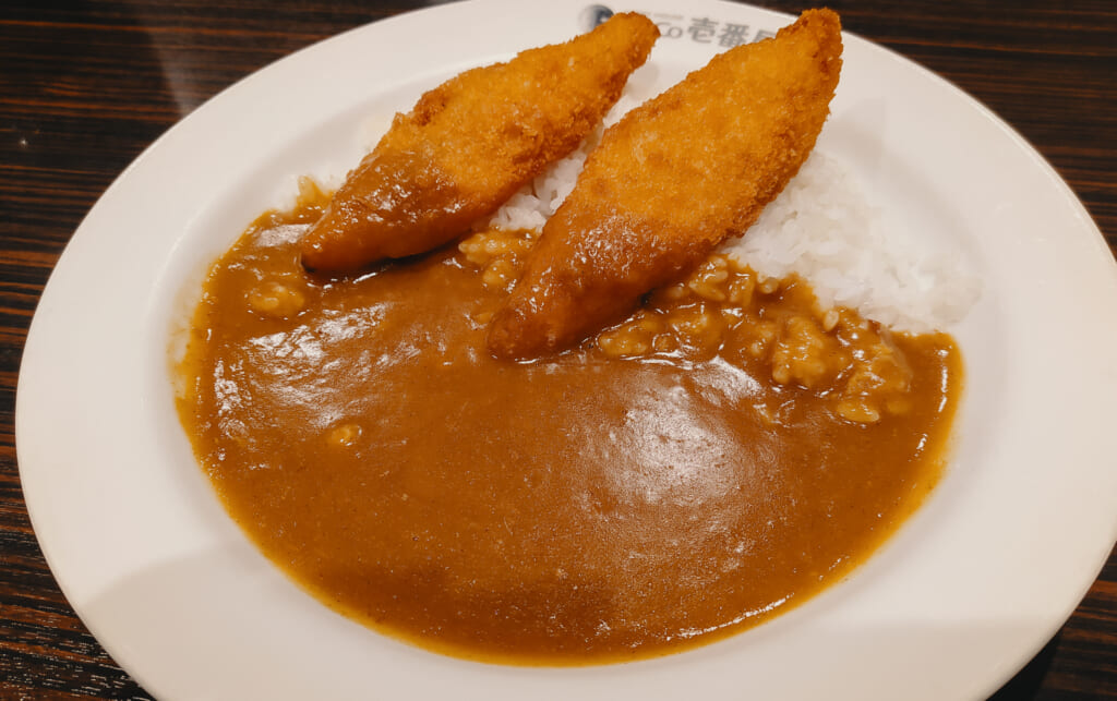 Japanese curry in a restaurant in Japan