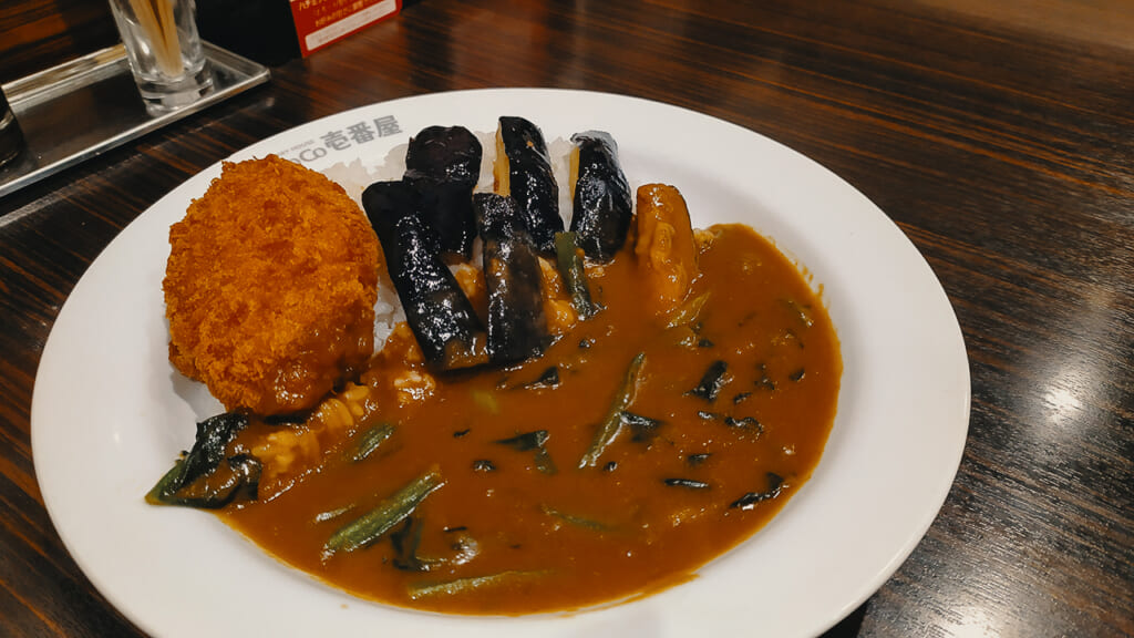 Vegetarian curry in a japanese restaurant