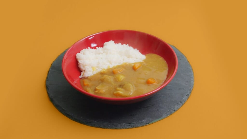 Homemade japanese curry with rice