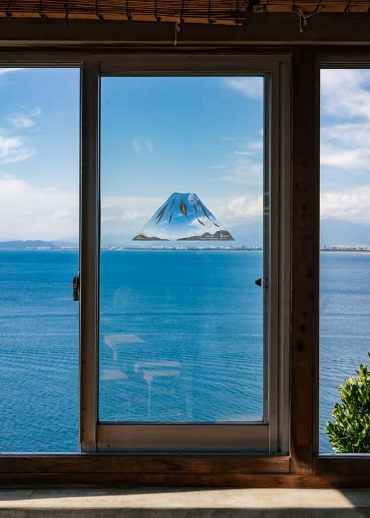 View of Mt. Fuji on Enoshima island
