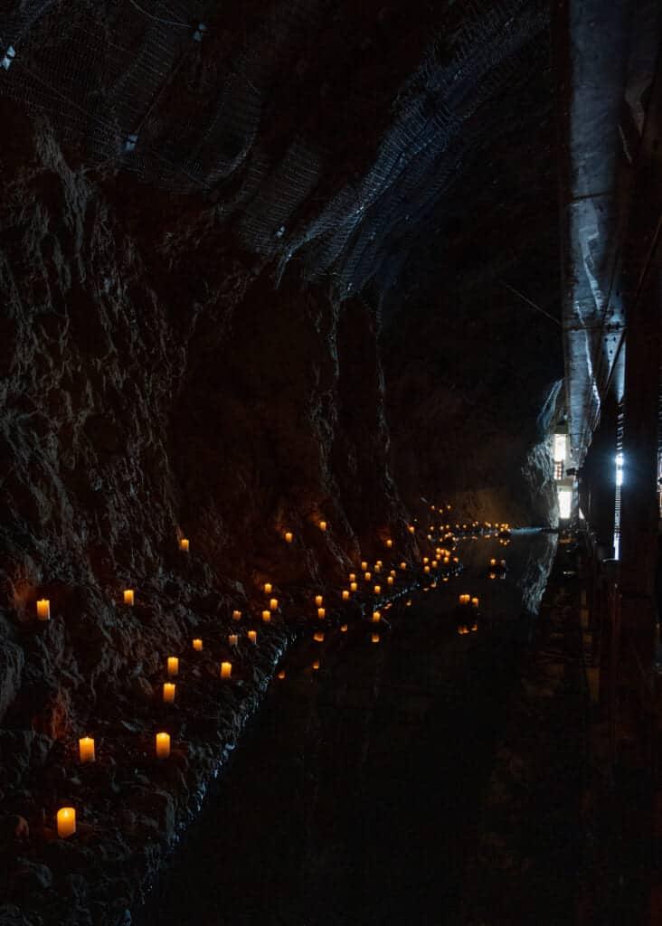 Interior of Iwaya Cave on Enoshima Island