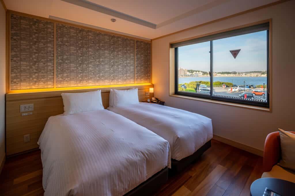 interior of standard room at enoshima hotel
