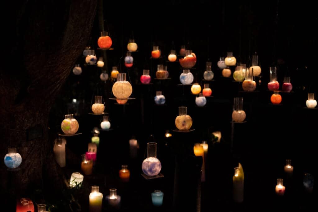 shonan candle festival 2020 display on enoshima island