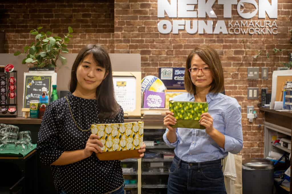 minako and yurubia showing their japanese handmade products