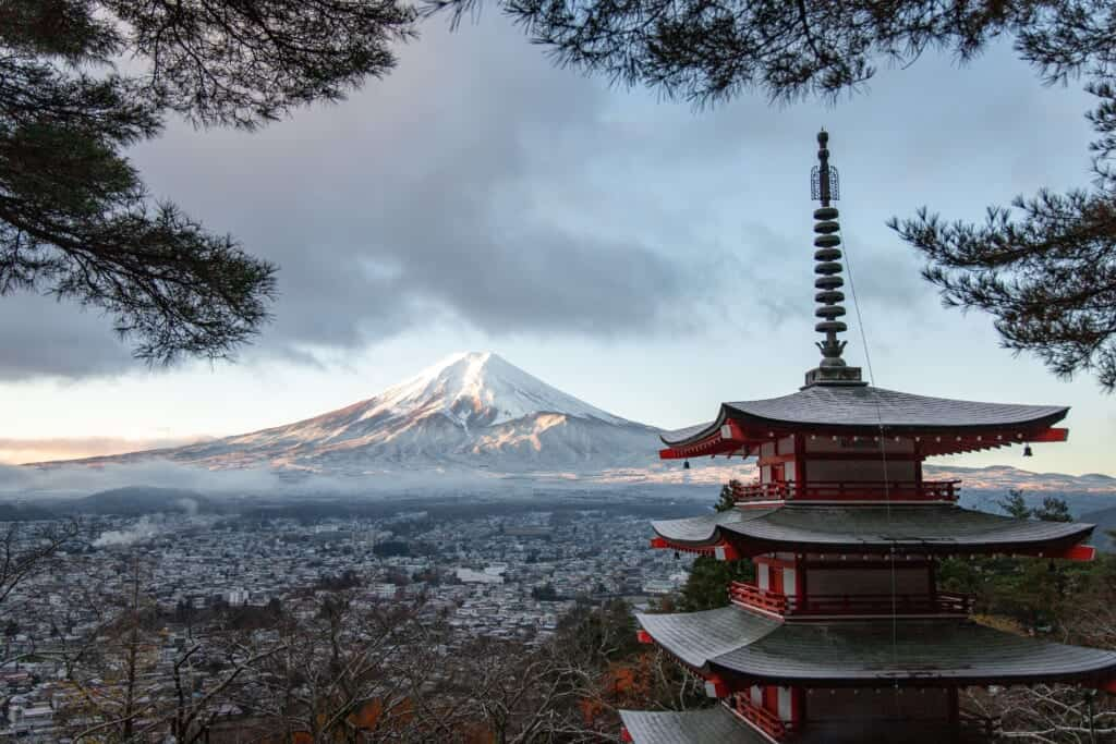Mount Fuji, one of the biggest Volcanoes in Japan
