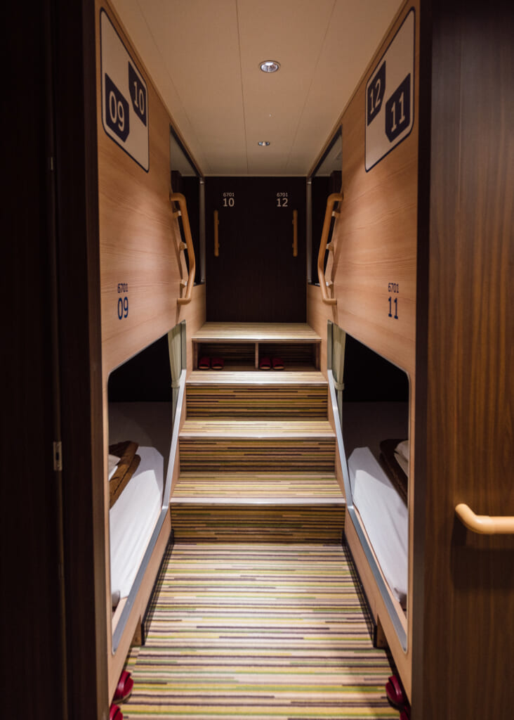 tourist bed options aboard Sunflower Ferry Cruise in Japan