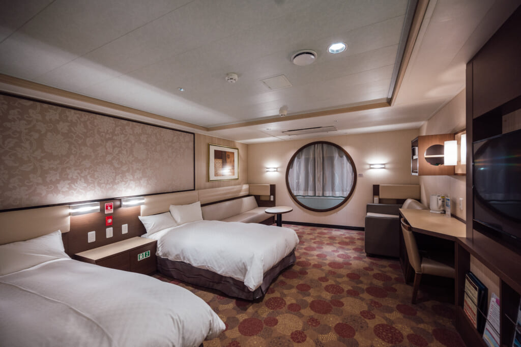 double room accommodation on sunflower ferry