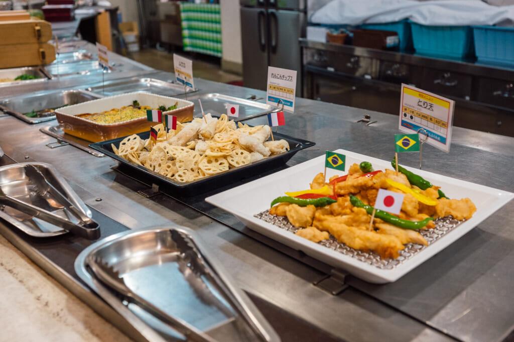 buffet options aboard Sunflower Ferry Cruise in Japan