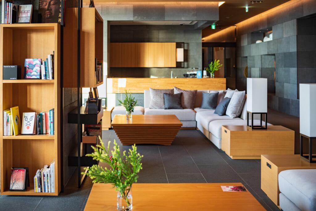 sitting area in luxury stay in beppu