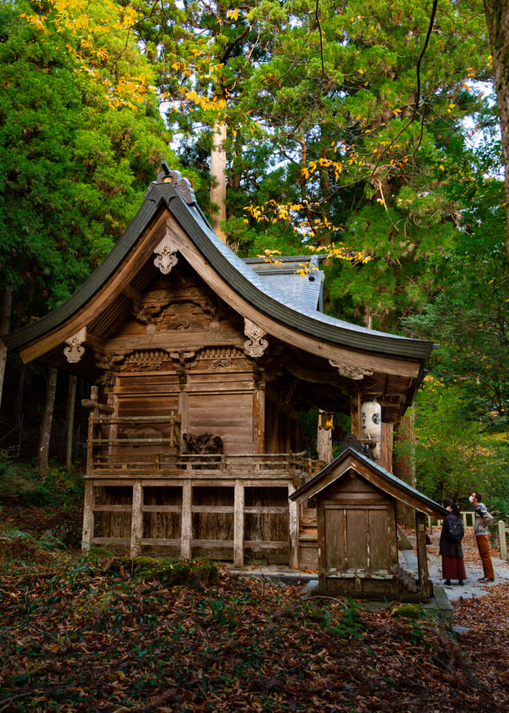 Japanese wooden temple near kyoto