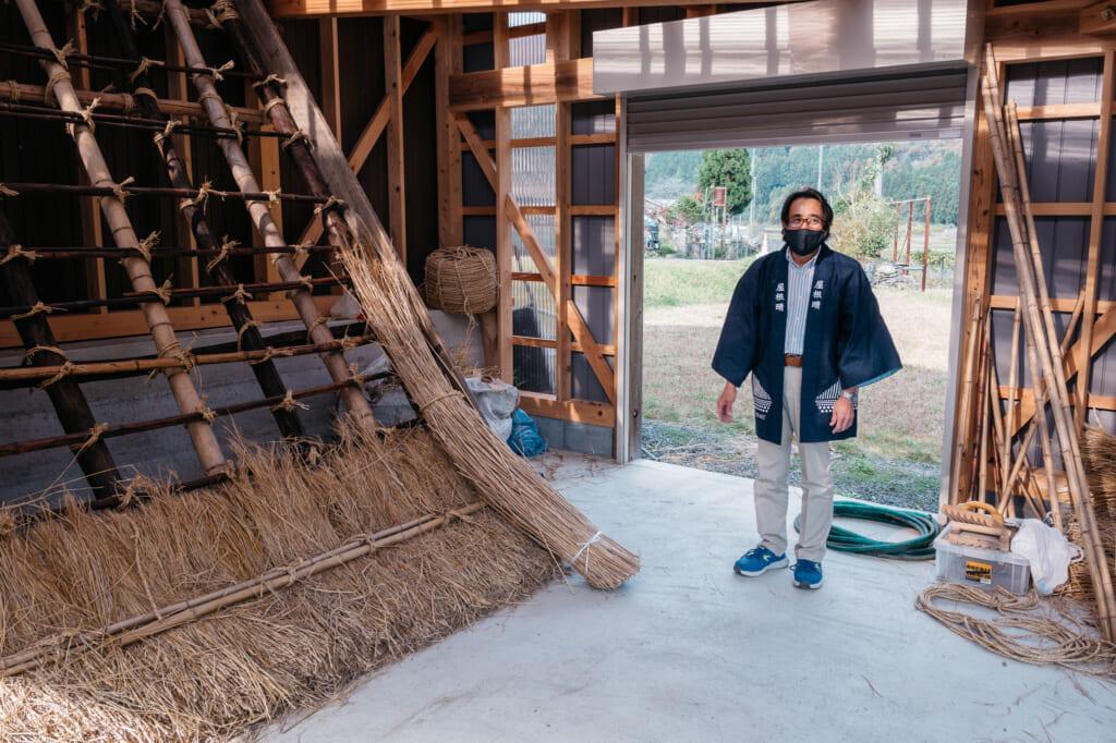 Traditional thatched roof house experience at kayabuki no sato near kyoto