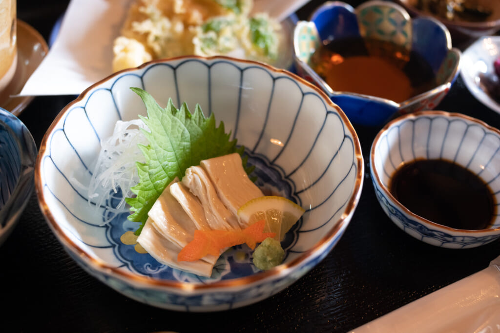 tofu dish in traditional japanese meal