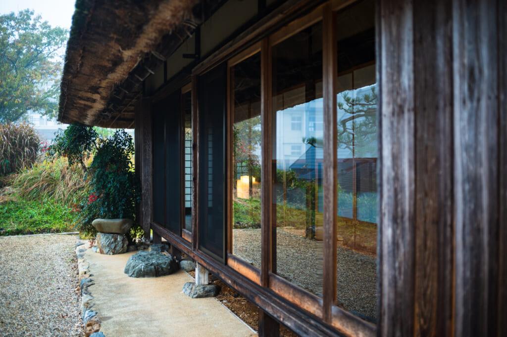 sliding doors on traditional japanese house