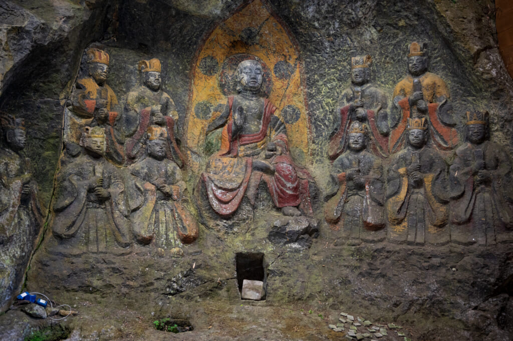 Buddhism statues in usuki kyushu