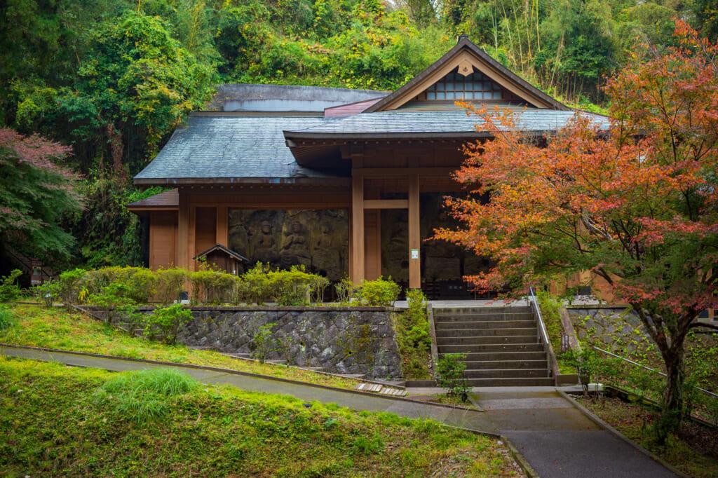 traditional japanese structure in usuki, oita, kyushu