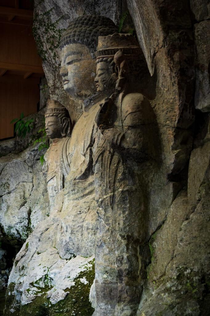 detail of Usuki Buddhas Statues in Usuki, Kyushu